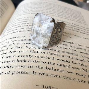 Sorrelli Snow Bunny Semi Precious Ring